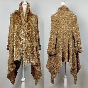 Lumiere Anthropologie Cardigan M Knit Eyelash Coat